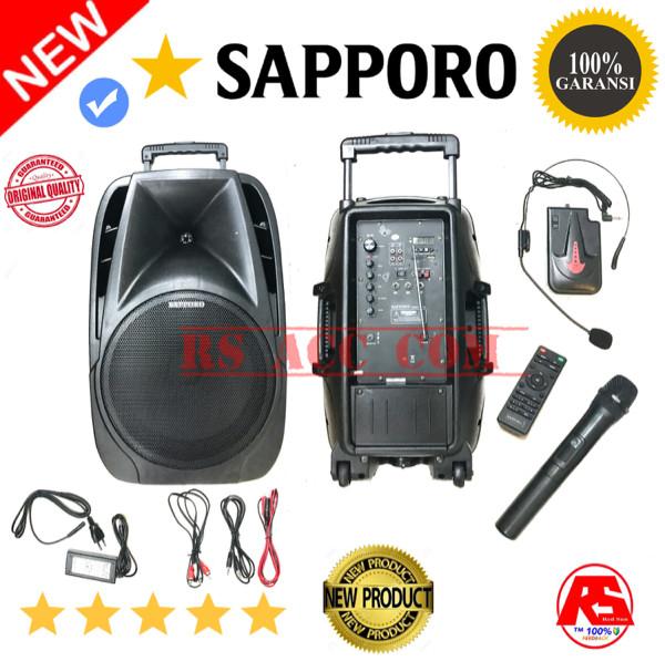 harga Speaker portable pa meeting sapporo original 12 inch vitur lengkap Tokopedia.com