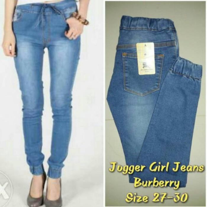 Celana Jogger Jeans Wanita   Jogger Pants Panjang   Joggerpants Jeans 676ce35199