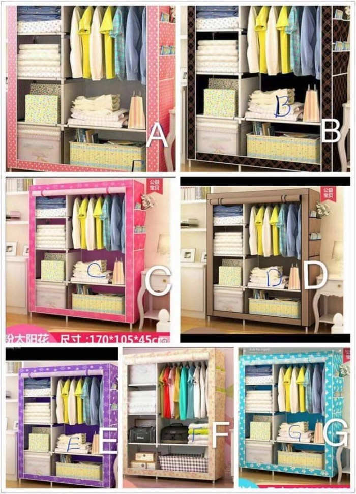 harga Cloth Rack With Cover Rak Baju Multi Fungsi ( Lemari Kain Non Woven ) Tokopedia.com