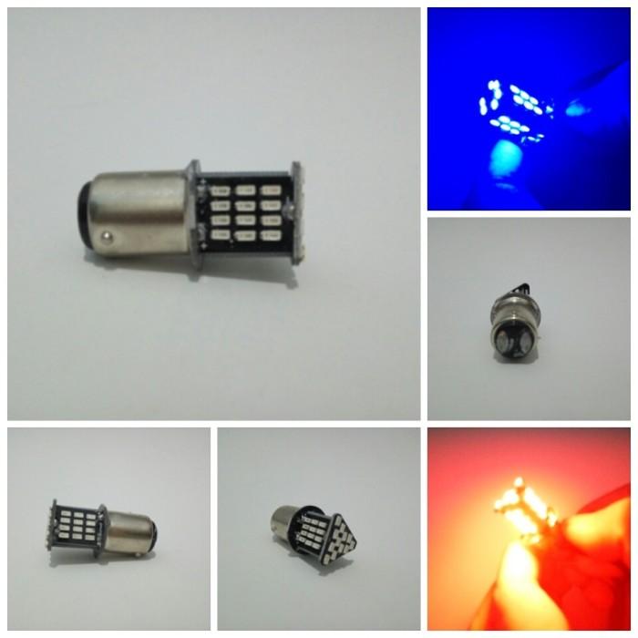 harga Lampu rem 48 led 2 warna 2 mode strobo motor mobil - biru merah Tokopedia.com