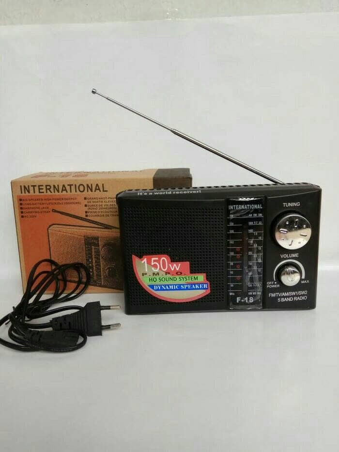 harga Radio international f-18 am/fm/sw model jadul antik radio rodja Tokopedia.com
