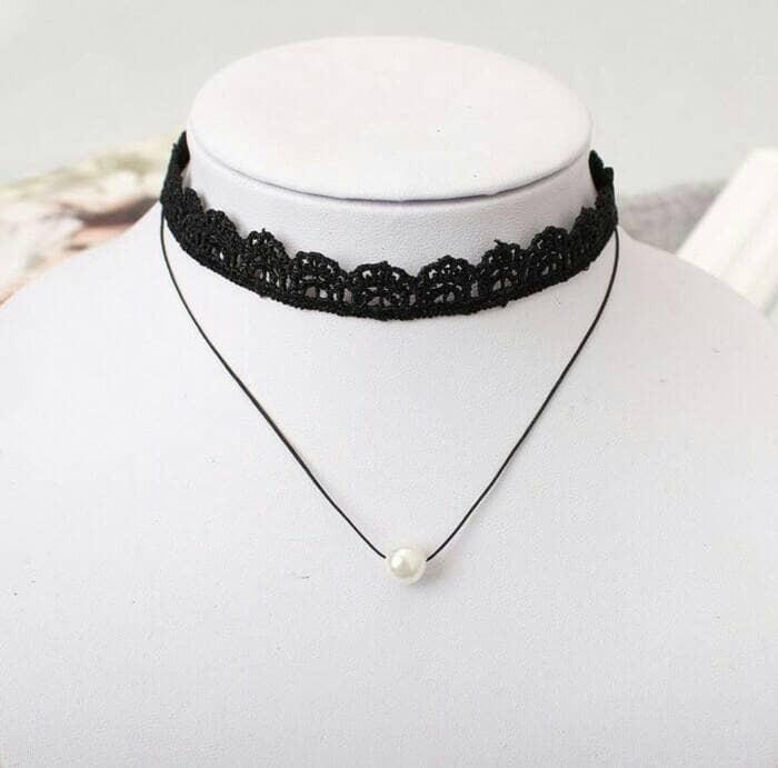 Foto Produk Kalung Choker Korea (Retail/Grosir) - KD052 dari BeaNa-Shop
