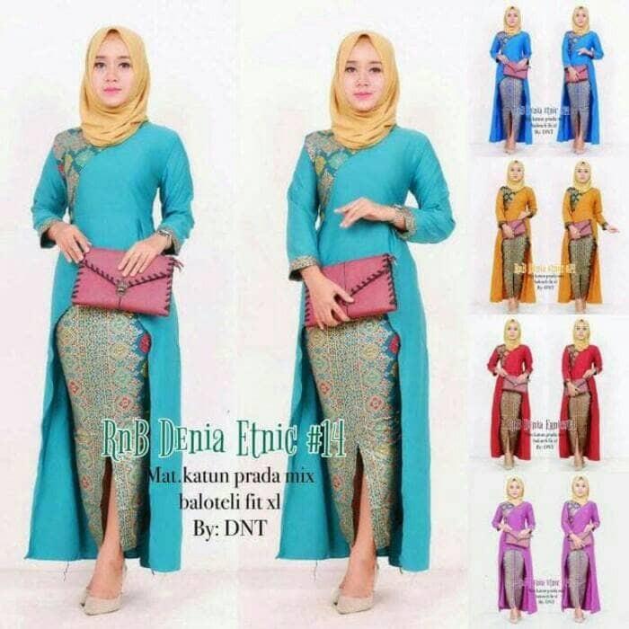 harga Batik kebaya wanita seragam pesta hijab baju gamis muslim longdress  Tokopedia.com f1cd78ba3b