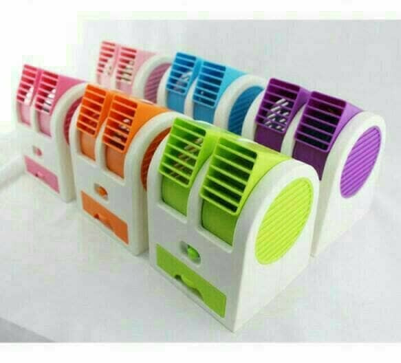 harga Kipas angin es batu ac mini portable double blower Tokopedia.com