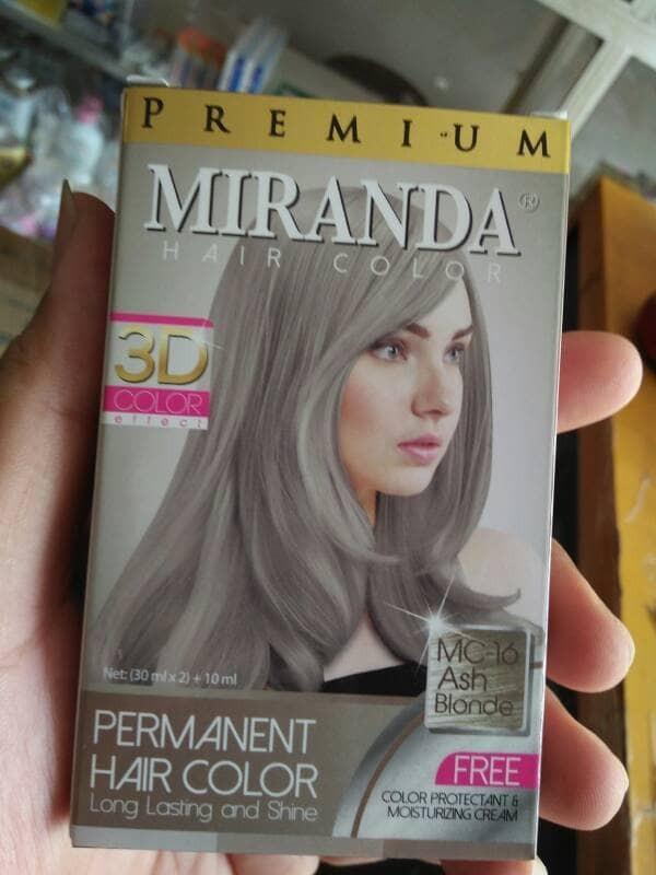Jual Cat Pewarna Rambut Permanent Miranda Hair Color Ash