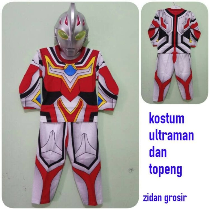 harga Kaos/baju setelan anak ultraman/kostum ultraman dan topeng Tokopedia.com