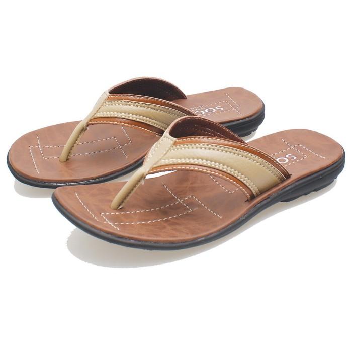 harga Sandal murah i sendal laki-laki i sandal jepit kulit casual pria bsm Tokopedia.com