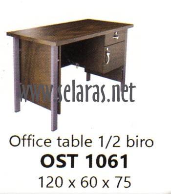 harga Meja kantor kaki besi 1/2 biro lp orbitrend ost 1061 brown 120x60 diy Tokopedia.com