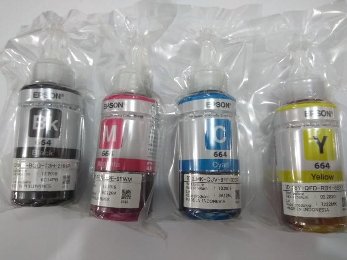 Tinta Epson L-Series 664 (T6641, T6642, T6643, T664) ORIGINAL - Hitam