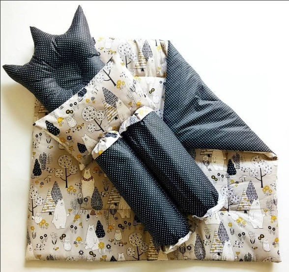 harga Bedding set - black polar bear (selimut bayi / bed cover bayi) Tokopedia.com