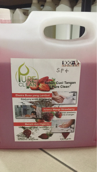 harga Sabun cuci tangan aroma strawberry  pure clean  5 l Tokopedia.com