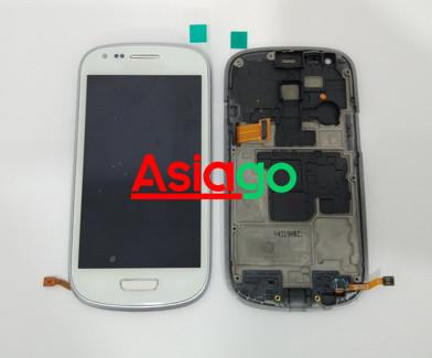 Lcd samsung galaxy s3 mini / i8190 original + touchscreen +frame