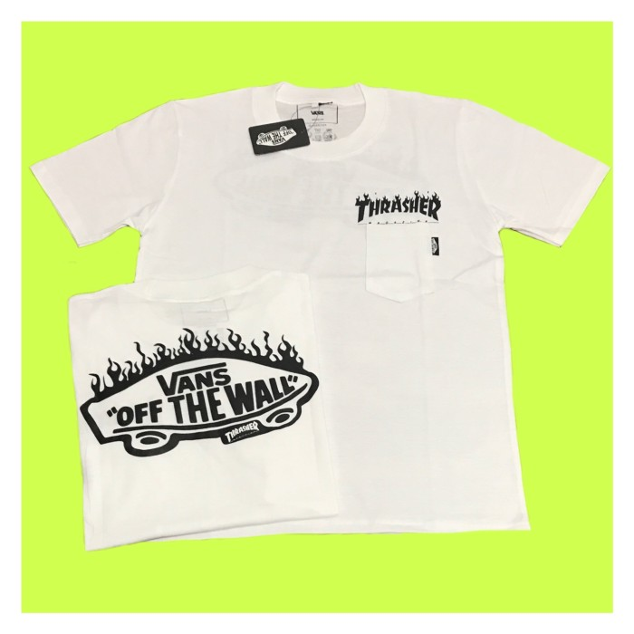 a1d3d5888101 ... harga Kaos thrasher x vans flames logo white tshirt hypebeast best  seller Tokopedia.com