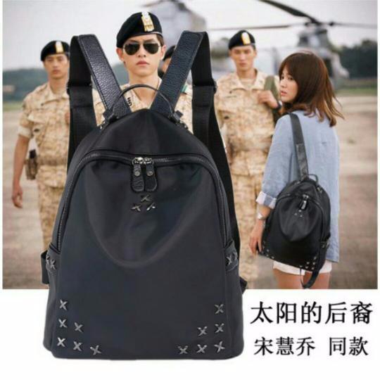 Tas Ransel Wanita Import Fashion Artis Korea Murah Warna Hitam
