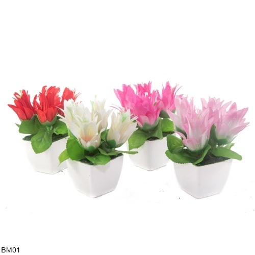 Mendekor Onrust Bunga Tanaman Sintetis Artifisial Pot Valentine Love ... 513f4a0412