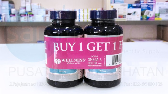 harga Wellness natural omega 3 fish oil 1000 mg Tokopedia.com