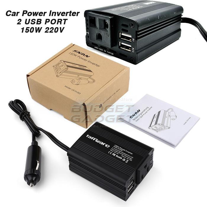 harga Taffware power inverter mobil dengan 2 usb port 150w 220v Tokopedia.com