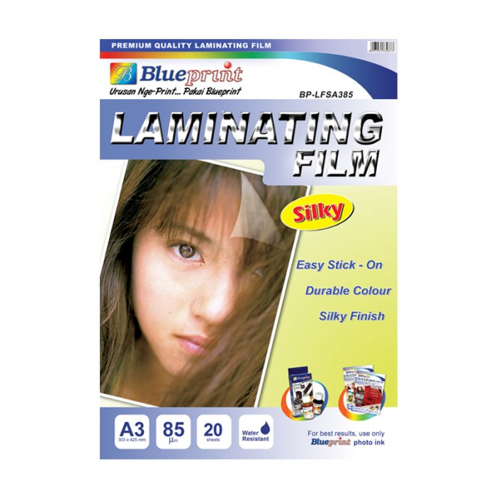 harga Blueprint bp-sfa385 laminating silky film a3 Tokopedia.com