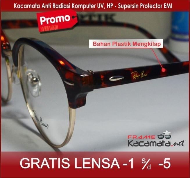 Jual Frame Kacamata Lensa+Minus Antiradiasi Wanita Pria Baca Korea ... 2268d03ad6