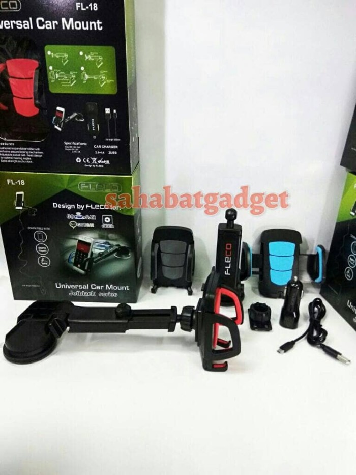 harga Car holder fleco fl-18 plus charger mobil usb cable universal mount Tokopedia.com