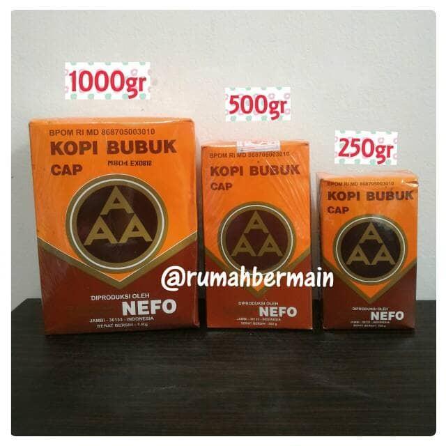 ... harga Kopi jambi aaa nefo 250gr kopi bubuk asli cap aaa kopi hitam murni Tokopedia.