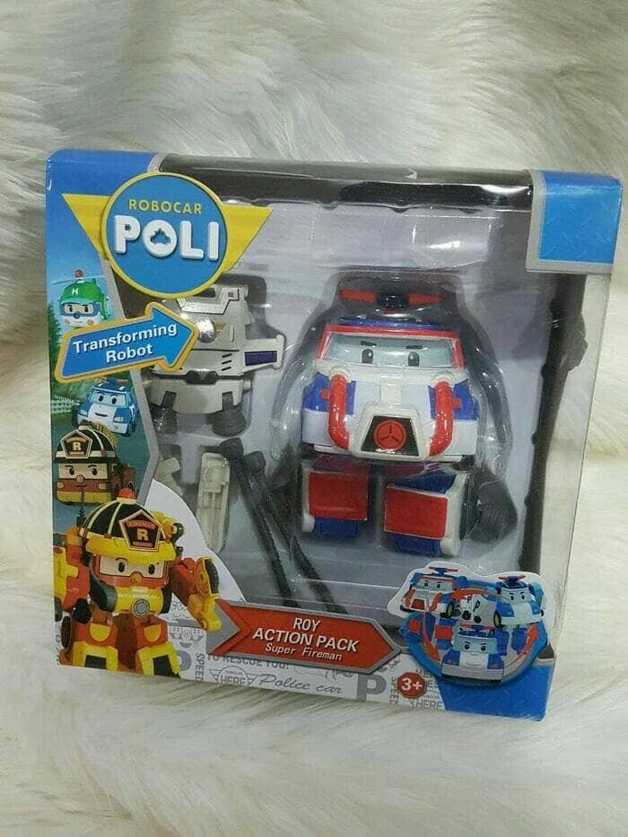Obral Silverlit Robocar Poli Roy Action Pack Fireman Mainan Anak Source POLI SPACE ACTION PACK