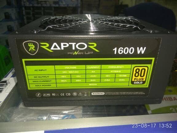 harga Power supply 1600watt raptor pure ( psu pure server  gaming ) Tokopedia.com