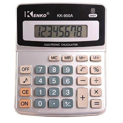 harga Kenko kalkulator elektronik office calculator - kk-900a - black/silver Tokopedia.com