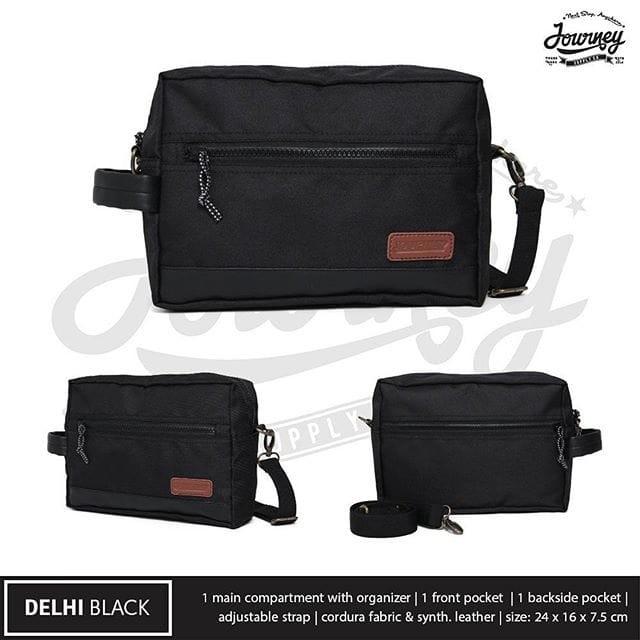 harga Tas journey delhi black hand bag pria dan wanita tas gadget Tokopedia.com