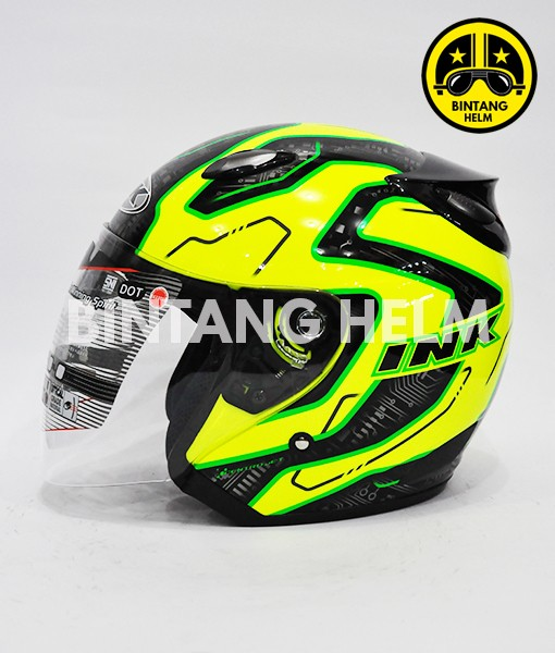 harga Helm ink centro jet motif yellow fluo black green Tokopedia.com