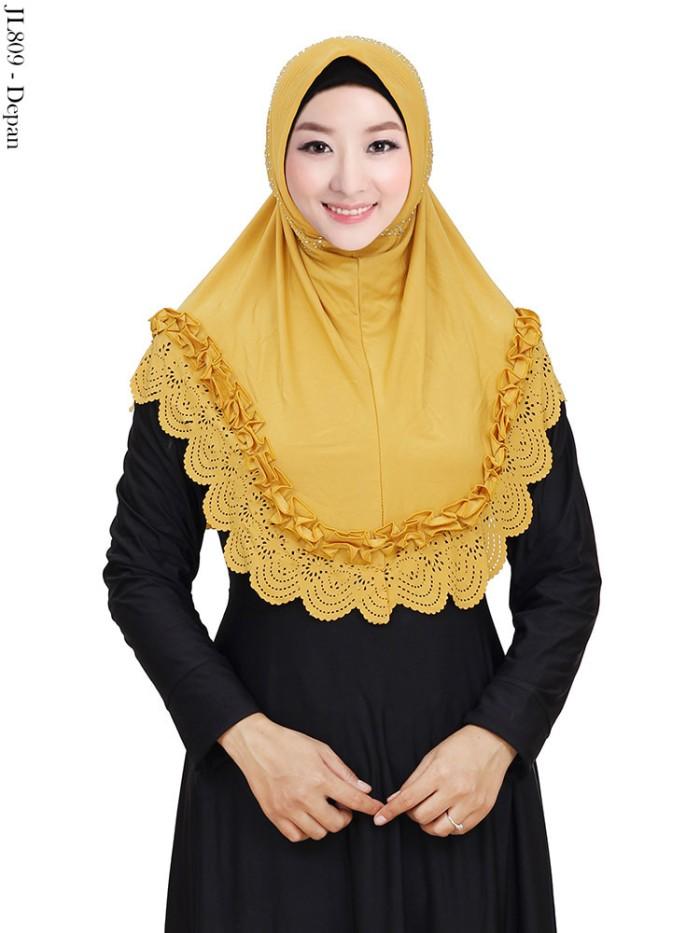 Jilbab Instan Hijab polos pet list hias payet tabur