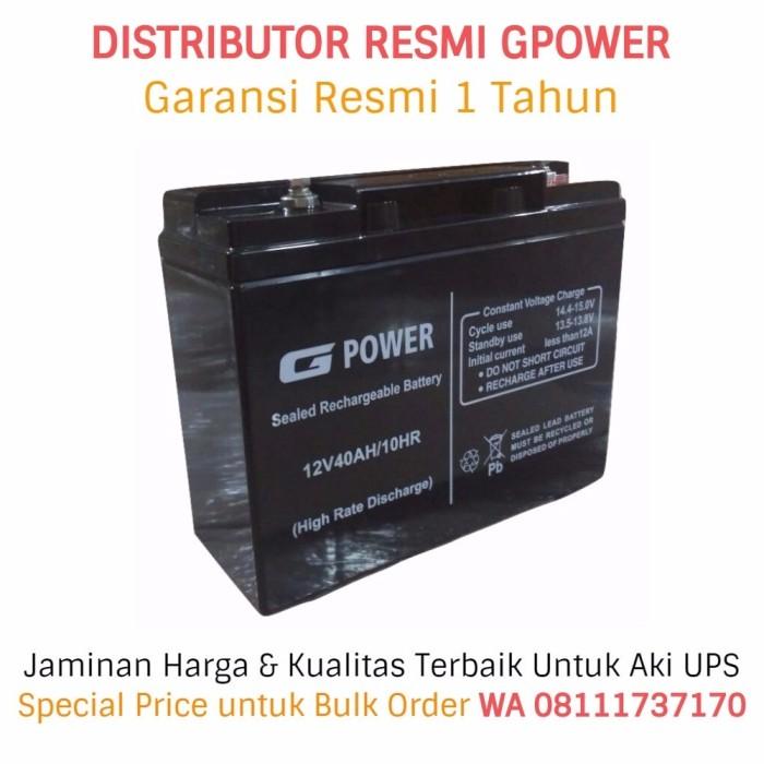 harga Aki ups gpower 12v - 40ah (garansi resmi). battery ups / baterai ups Tokopedia.com