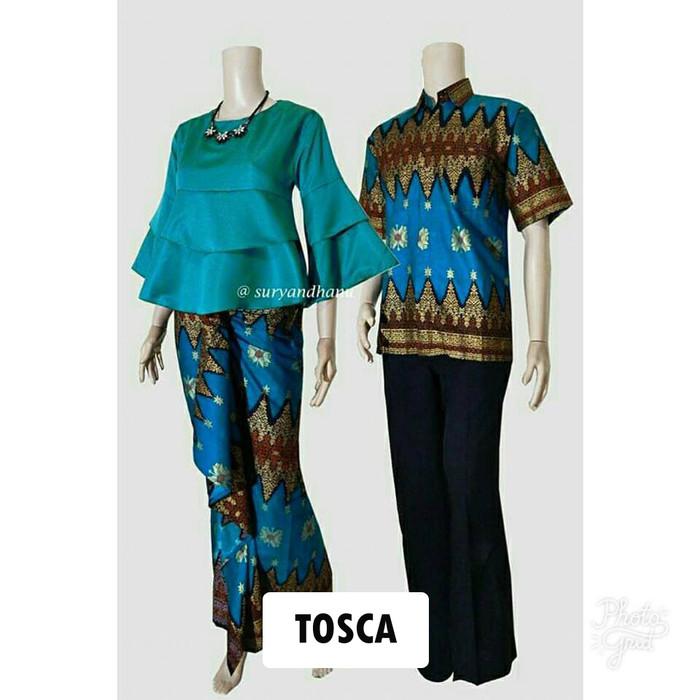 harga Couple batik sarimbit kebaya baju pesta pasangan seragam srg 554 Tokopedia.com