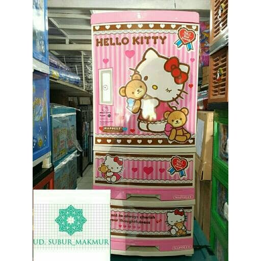 harga Lemari Plastik Lemari Pakaian Laci Serbaguna Hello Kitty Susun 4 Tokopedia.com