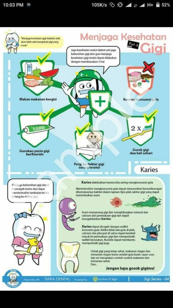 Jual Poster Gigi A3 Tema Menjaga Kesehatan Gigi Kota Depok