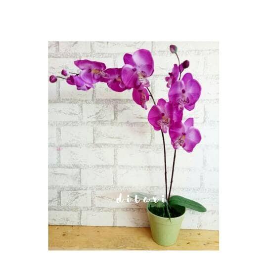 Foto Produk buket bunga plastik artificial palsu dekorasi anggrek shabby dari Ditari shop