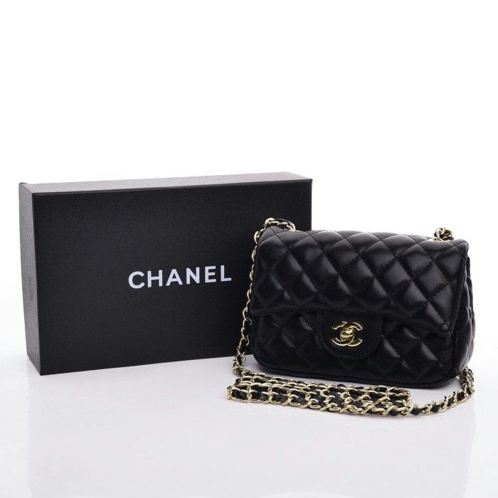 ... harga Tas chanel mini classic lambskin box hitam semi premium 3019  Tokopedia.com 2c407e4987