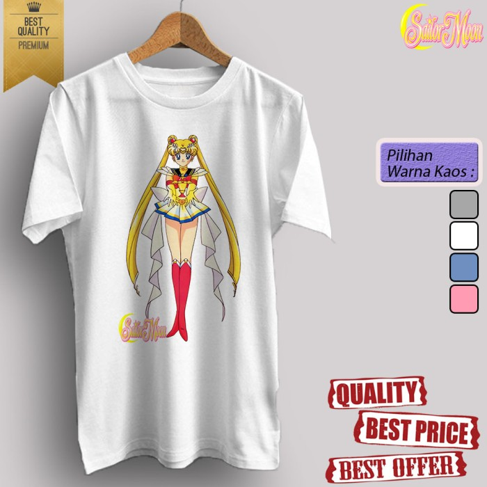 harga Baju kaos t shirt dewasa/anak anime tv sailor moon 13 Tokopedia.com