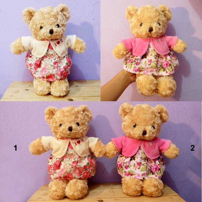harga Teddy bear dress cardigan teddy 35cm bahan lembut beruang animal Tokopedia.com