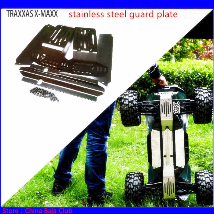 harga 1/5 rc car new traxxas x-maxx upgrade  metal chassis protection Tokopedia.com
