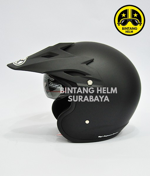 Helm NHK Supermoto Solid Black Doff