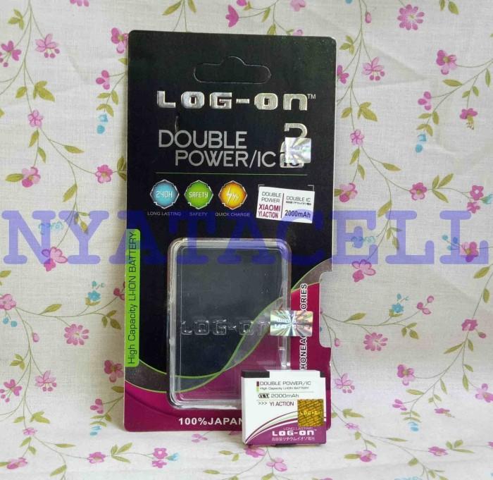 harga Baterai log on xiaomi yi action camera batre/original/double power Tokopedia.com