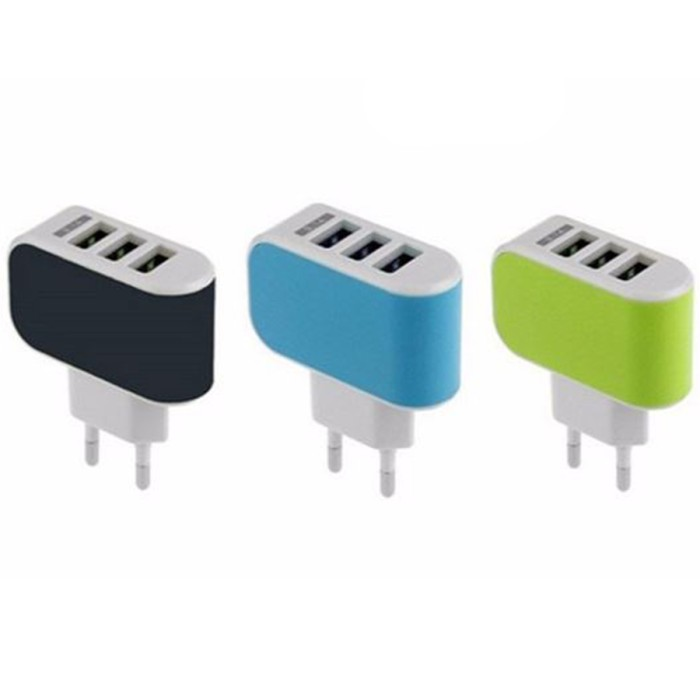 harga Mini usb 3 port mobile phone ipad charger Tokopedia.com