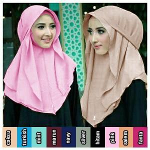 Hqo Hijab Kerudung Instan Atalia Original By Flow Idea Coklat Susu Source · Jual Jilbab Pashmina Instan Pastan Bella Bahan High Quality Diamond