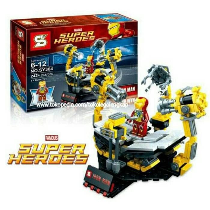 harga Sy 304 Lego Ironman Lab Super Hero Avengers Sy304 Marvel Tokopedia.com
