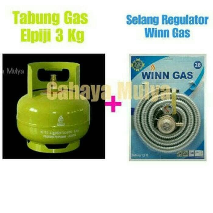 harga Tabung gas elpiji 3 kg + selang regulator winn gas Tokopedia.com