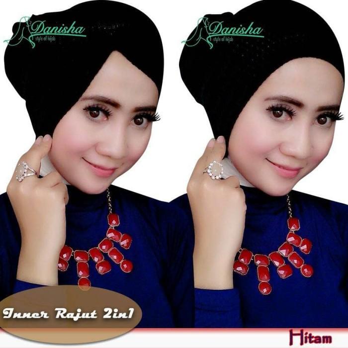 Inner Rajut 2 in 1 original by Danisha / Ciput Risty / Inner Jilbab