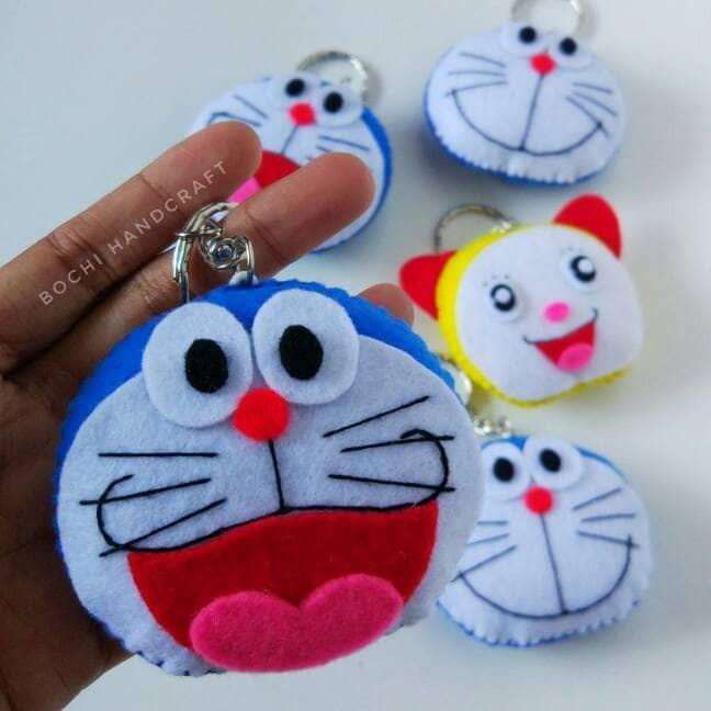 Jual Gantungan Kunci Flanel Doraemon Dorami Kota Surabaya Bochi Handcraft Tokopedia