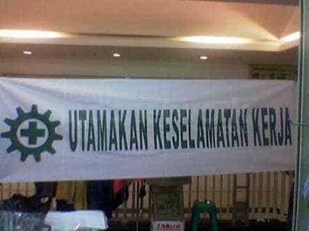 Jual Spanduk Keselamatan Kerja Spanduk K3 Jakarta Barat Suryamas Safetindo Tokopedia