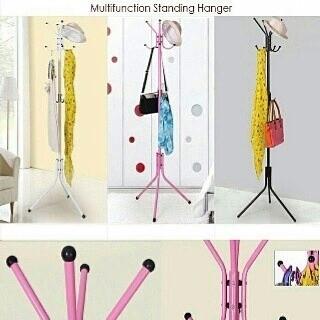 Stand Hanger / Gantungan Tiang Berdiri / Hanger gantungan baju - Putih